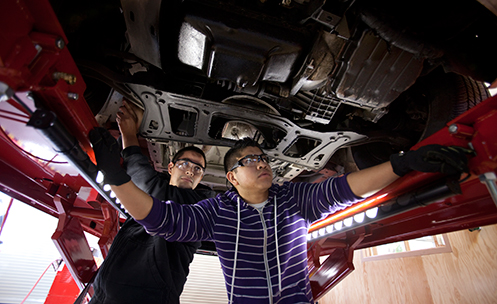 College of Marin Auto Technology Students Learning