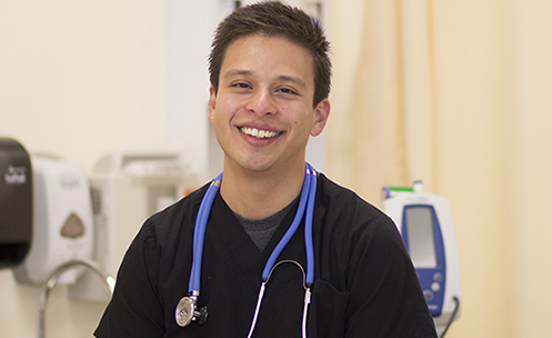 Medical Assistant in training at College of Marin's health program
