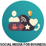social media for business icon