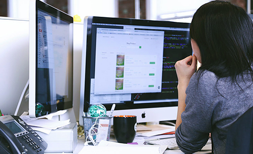 Web Designer at work